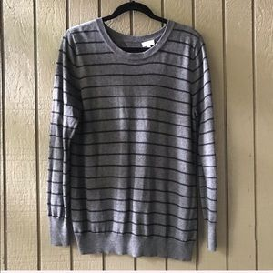 Pixley Gray & Black Striped Sweater Large